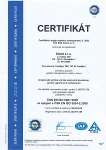 9001:2009 ve spojení s ISO 3834-2